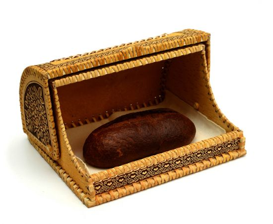 Хлебница из бересты «Деревенские подсолнухи», фото , изображение 5