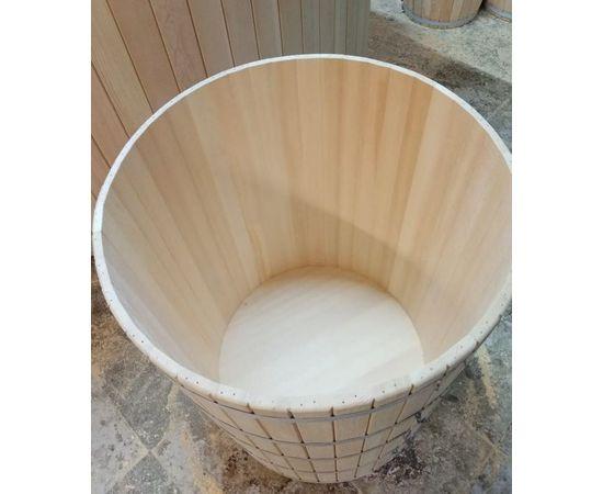 Кадка из кедра с крышкой 200 л. Бочка для воды, фото , изображение 3