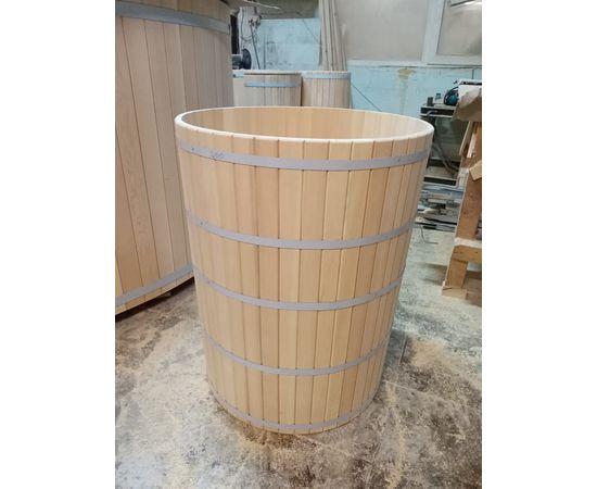 Кадка из кедра с крышкой 200 л. Бочка для воды, фото , изображение 4