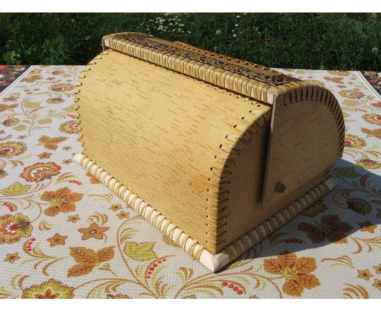 """Хлебница из бересты """" Фиалки"""", фото , изображение 3"""