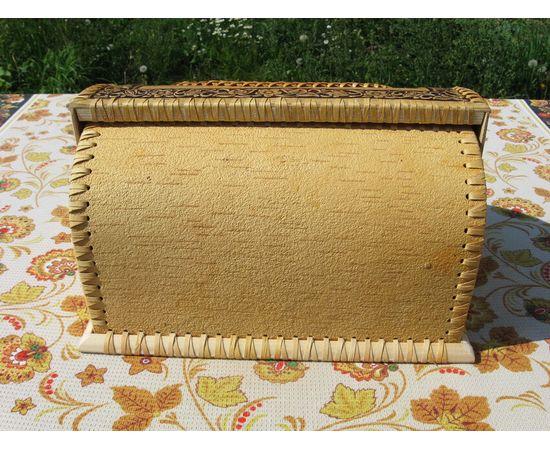 """Хлебница из бересты """" Фиалки"""", фото , изображение 6"""