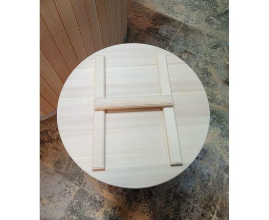 Кадка из кедра с крышкой 200 л. Бочка для воды, фото , изображение 5