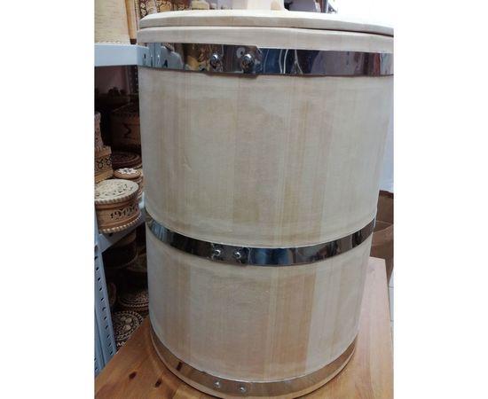 Кадка из кедра «Петровская» 60 л обручи из нержавейки, фото , изображение 2