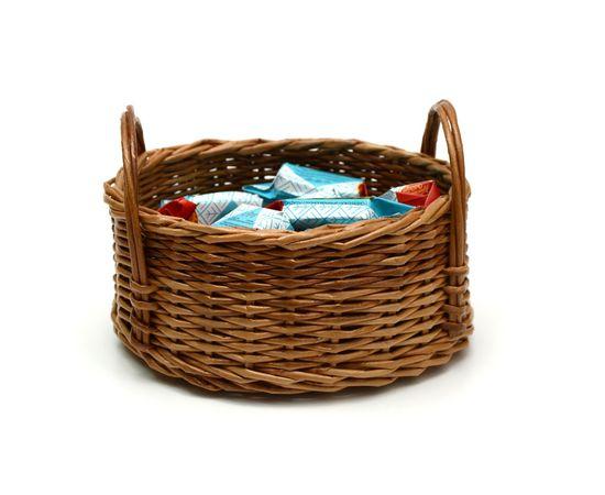 Корзинка плетеная из лозы. Конфетница, фото , изображение 5