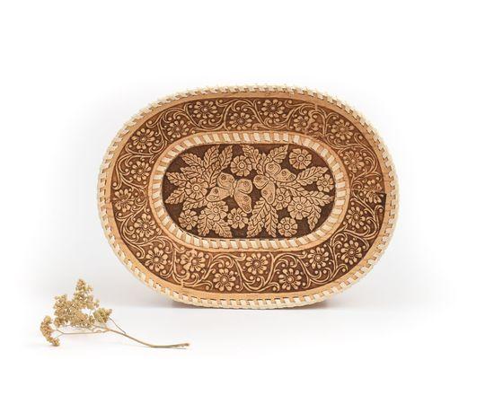 Тарелка овальная «Бабочки», фото