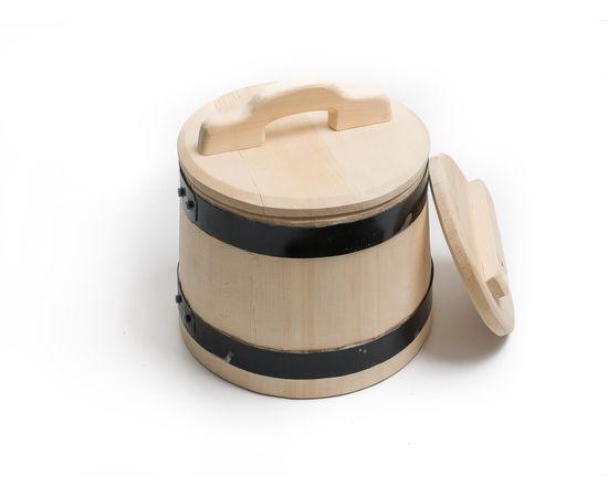 Кадка деревянная из кедра для засолки 5 литров, фото , изображение 2