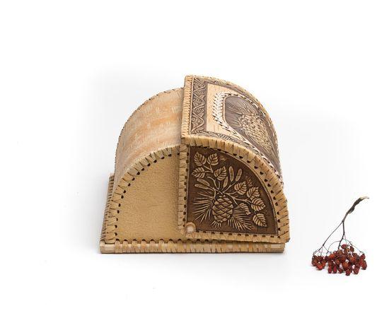 "Хлебница из бересты на 1 булку ""Шишки"", фото , изображение 5"