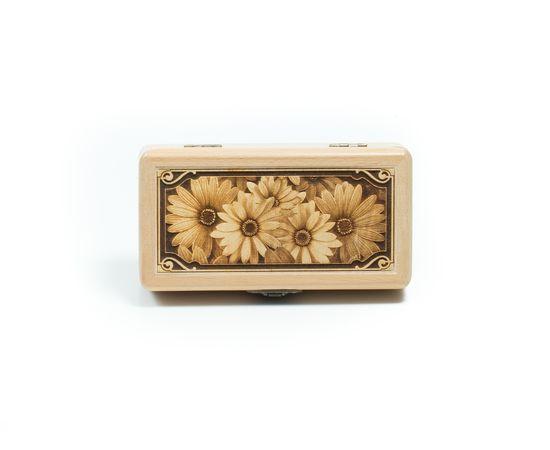 Шкатулка деревянная «Ромашки», фото