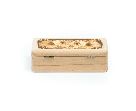 Шкатулка деревянная «Ромашки», фото , изображение 3